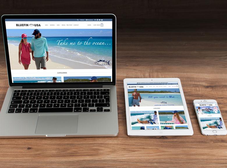 Prodotti di altissima qualità e stile contraddistinguono Bluefin USA, che ha scelto Wp24 per la creazione del proprio sito.