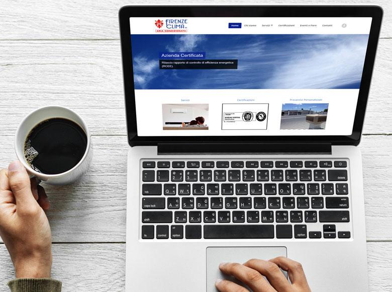 Firenze Clima, una piccola azienda nata nel 2010, si è affidata all'esperienza di Wp24 per creare la propria identità su internet.