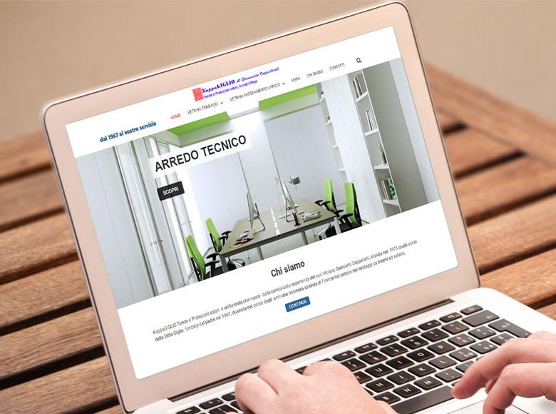 KappaGIGLIO, rinomata Azienda di Firenze che nasce nel 1967, ha scelto Wp24 per realizzare la sua vetrina di tendaggi e arredo tecnico su internet.