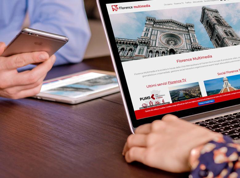 Florence Multimedia è la società in house della Città Metropolitana di Firenze che si occupa di produzione video, comunicazione giornalistica e crossmediale, gestione social network e organizzazione eventi legati alla pubblica amministrazione.